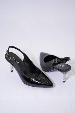 Pierre Cardin Kadın Taşlı Ökçeli Stiletto Siyah