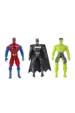 SPIDERMAN + Batman + Hulk 3'lü Set