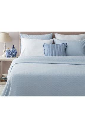 Madame Coco Lundi Çift Kişilik Yatak Örtüsü - Mavi