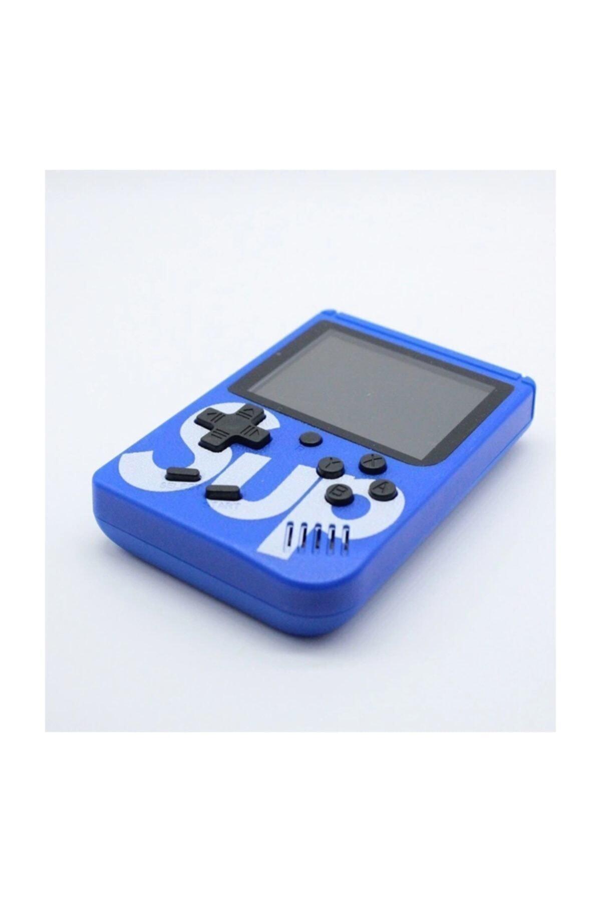 Retro 400 Nostalji Oyunlu Mini Atari Gameboy & Gamebox Oyun Konsolu Mavi 2
