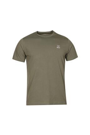 Kinetix SN234 BASIC RAW EDGE T-SH Haki Erkek T-Shirt 100581652