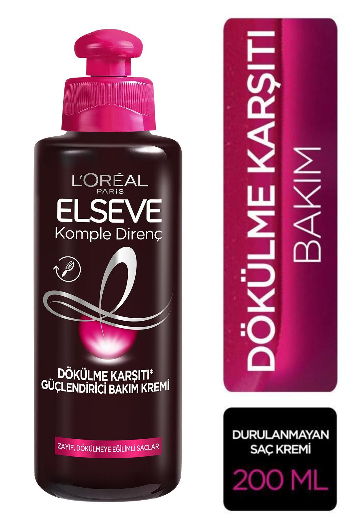ELSEVE L'oréal Paris Komple Direnç Dökülme Karşıtı Güçlendirici Bakım Kremi 200 ml 1