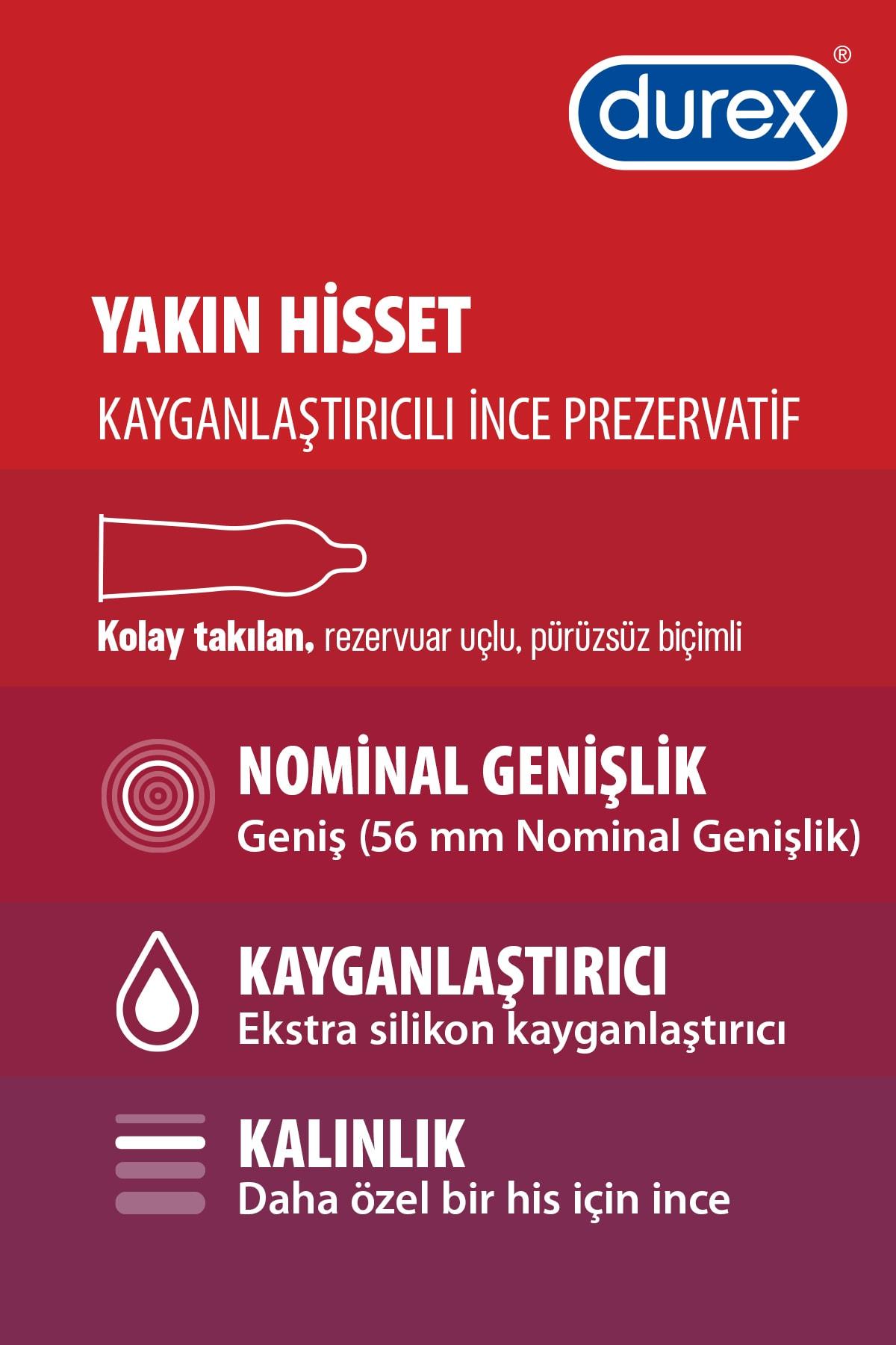 Durex Yakın Hisset Ince Prezervatif, 20'li Avantaj Paketi 2