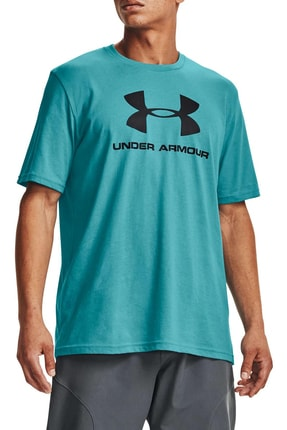 Under Armour Erkek Mavi Sportstyle Logo T-Shirt Ss 1329590-476