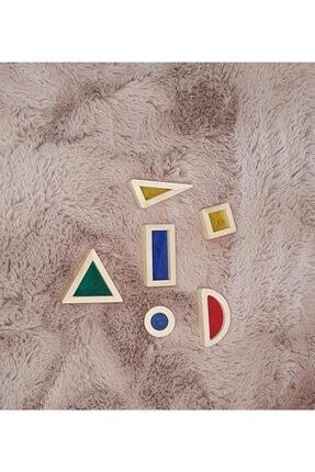 kırtkırt ahşap Ahşap Renkli Cam Bloklar 6 Lı Waldorf