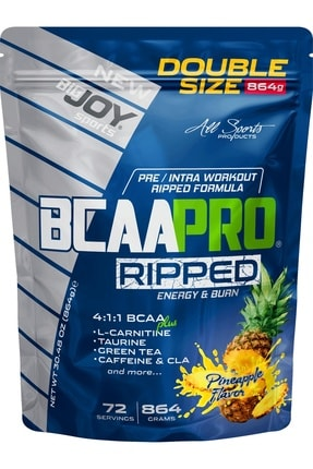 Big Joy Bigjoy Sports Bcaapro Ripped Bcaa L-carnitine Taurine Caffeine Amino Asit Ananas Aroma 864g