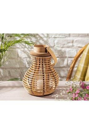English Home Nature Bambu Fener 19x19x26 Cm Kahve