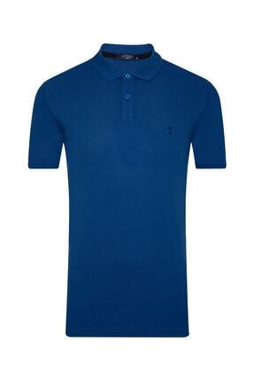 SÜVARİ Erkek Dar Kalıp Polo Yaka Düz T-Shirt