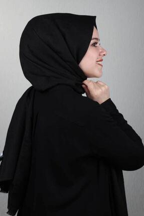 Modakaşmir Kadın Siyah Moda Kaşmir Desen Pamuk Şal