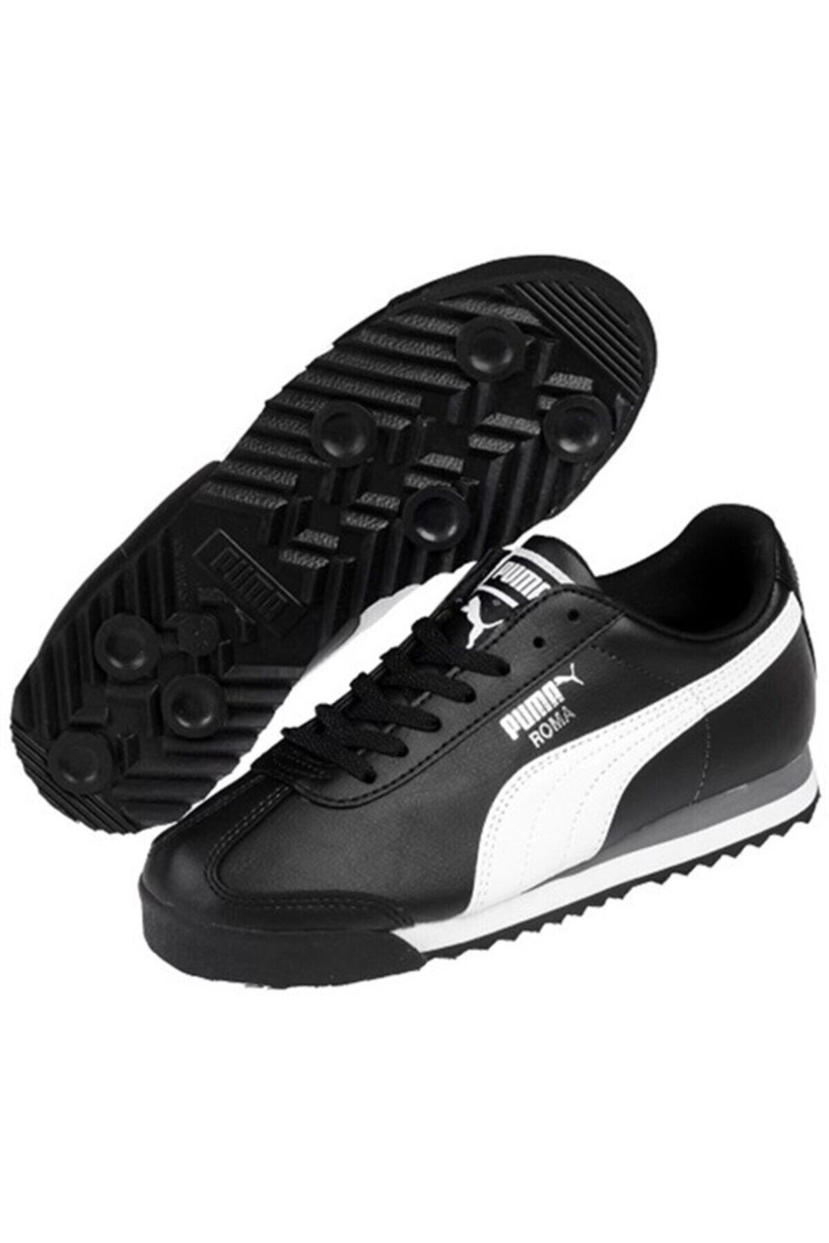 Puma Unisex Çocuk Siyah Roma Basıc Spor Günlük Ayakkabı 354259-011 1