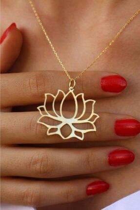 dalmarkt Lotus Altın Kaplama 925 Ayar Gümüş