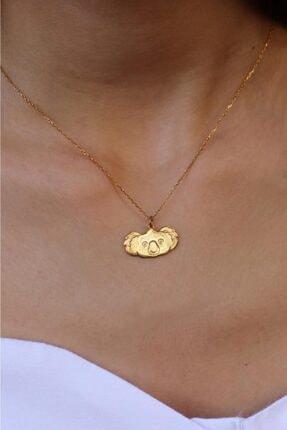 dalmarkt Koala Tasarım Kolye Gold Kaplama 925 Ayar Gümüş