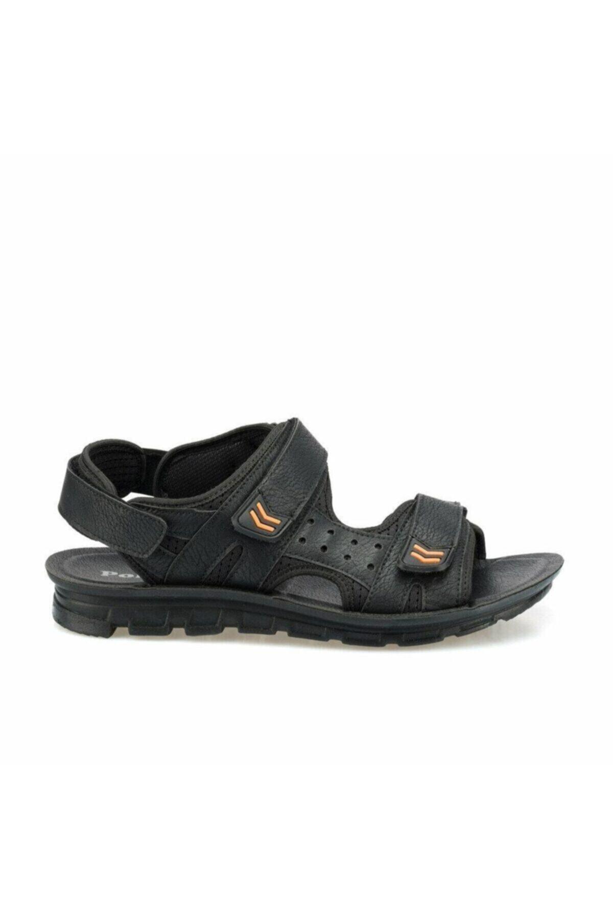 Polaris 160240.M Siyah Erkek Sandalet 100500958 1