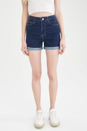 DeFacto Paçası Katlama Detaylı Mini Jean Şort