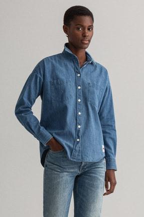 Gant Kadın Mavi Denim Gömlek 4311201