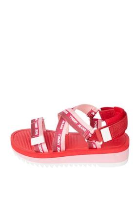 Tommy Hilfiger Kadın Pembe Sandalet Lurex Webbıng Strappy Sandal EN0EN01325