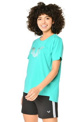 bilcee Kadın Yeşil T-shirt 8623