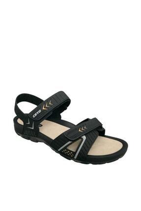 Ceyo Siyah Sarı Erkek Sandalet 09860
