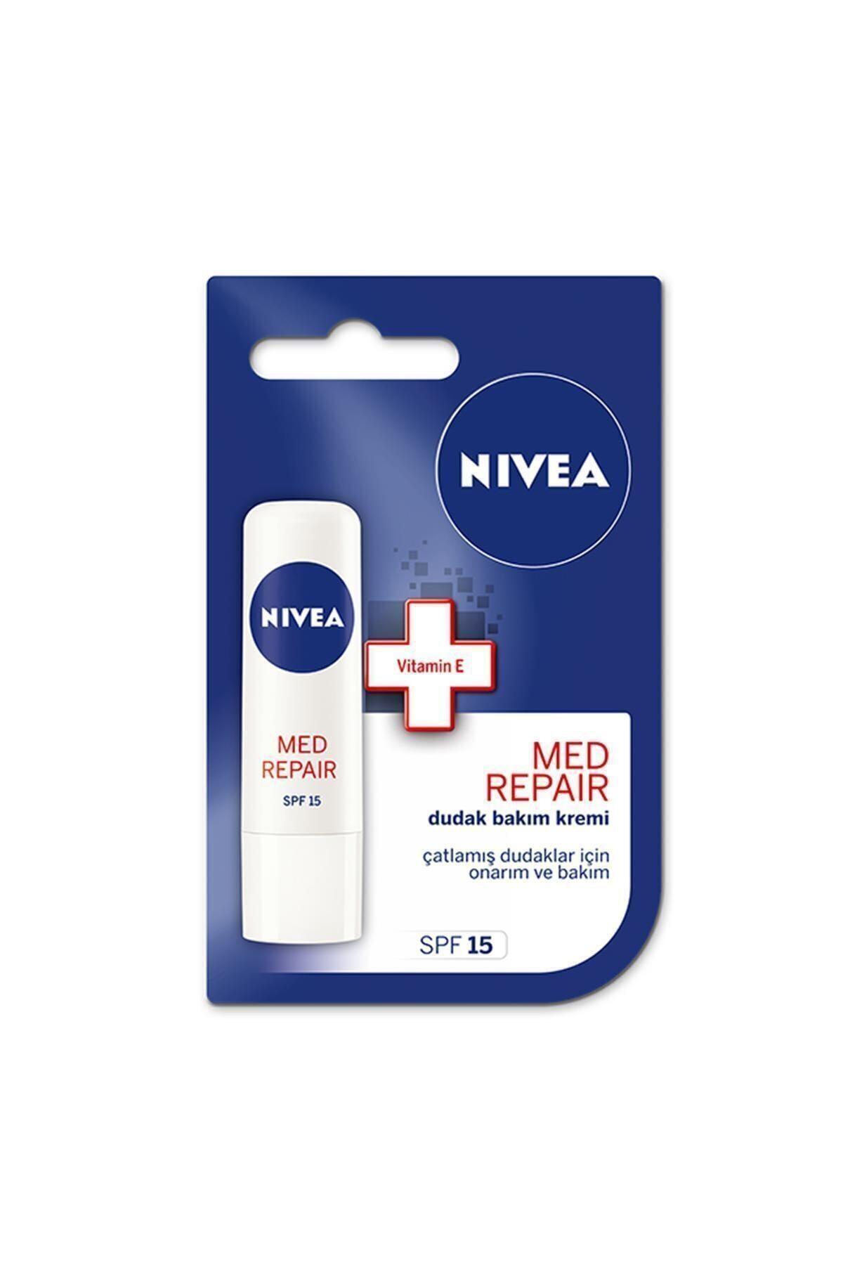 Nivea Lip Med Repair Dudak Bakım Kremi 4,8 gr 1