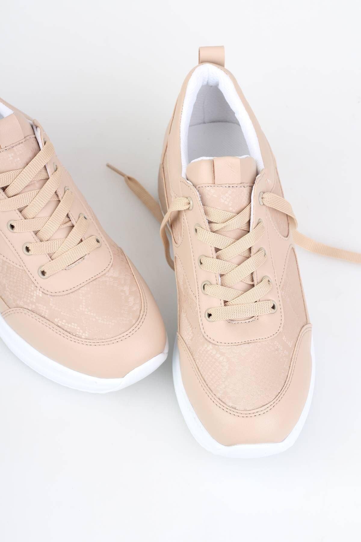 Modabuymus Kadın Spor Dolgu Topuklu Ayakkabı 2