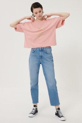 Lee Kadın Açık Mavi Carol Straight Fit Denim Esnek Jean Kot Pantolon