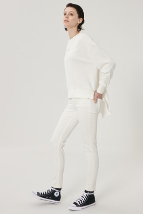 Lee Kadın Beyaz Scarlett Skinny Fit Denim Esnek Jean Kot Pantolon