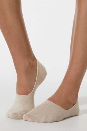 Oysho Kadın Kahverengi 2 Çift Pamuklu Görünmez Çorap 32547488
