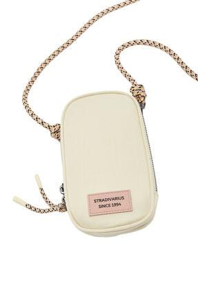 Stradivarius Kadın Beyaz Omuz Askılı Telefon Çantası