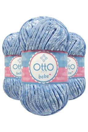 Otto Bebe Kadife 214 (ufuk Mavisi) El Örgü Ipi/yünü 1 Adet