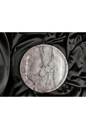 Pergamon Leylak Mermeri Gerçek Mermer Tepsi Sunum Veya Dekoratif Tabak
