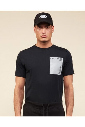SKECHERS Erkek Siyah Tshirt