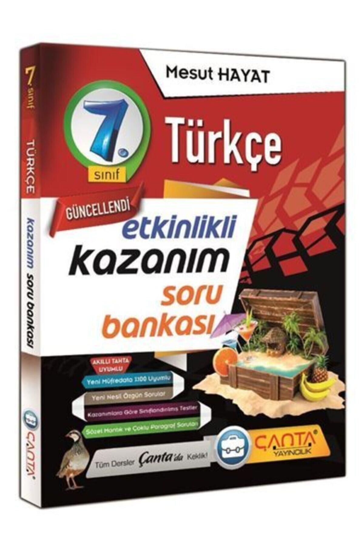Çanta Yayınları 7. Sınıf Türkçe Etkinlikli Kazanım Soru Bankası 1