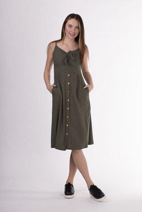 STAMINA Askılı Önü Bağcıklı Elbise-5kt12