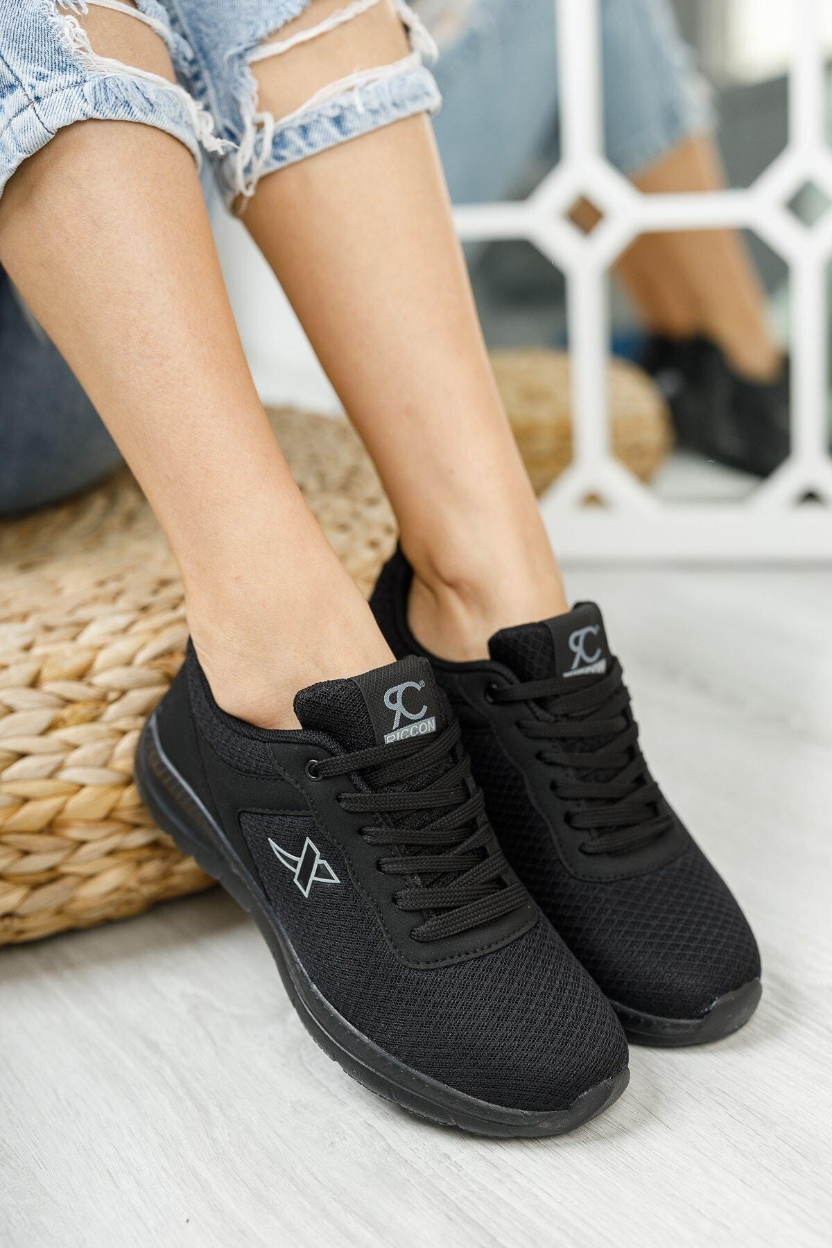 Riccon Siyah Siyah Unisex Sneaker 0012065 2