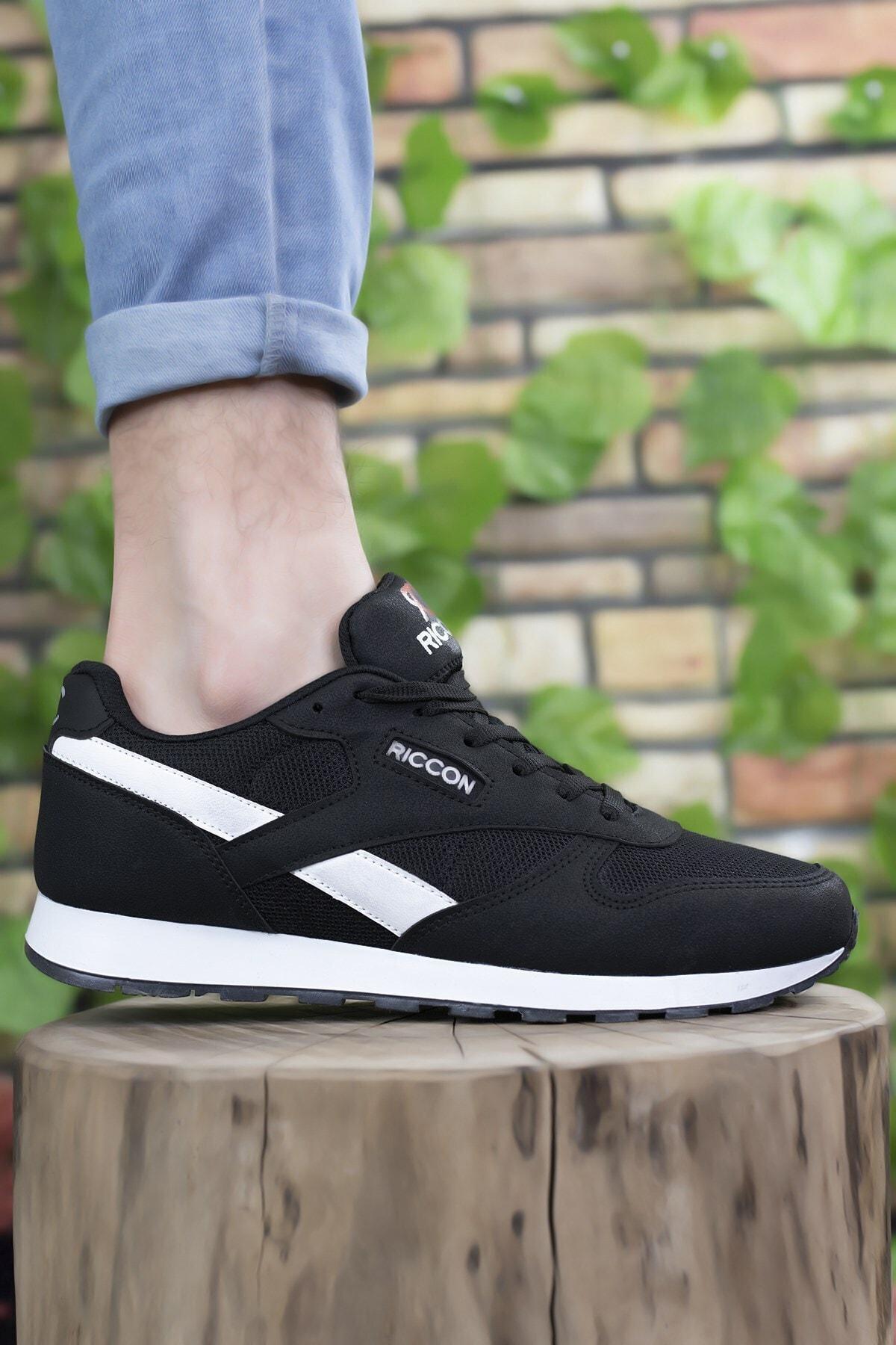 Riccon Siyah Beyaz Unisex Sneaker 0012853 2