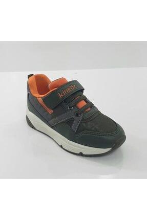 Kinetix Charley Haki Renk Kaymaz Taban Cırtlı Erkek Çocuk Spor Ayakkabı