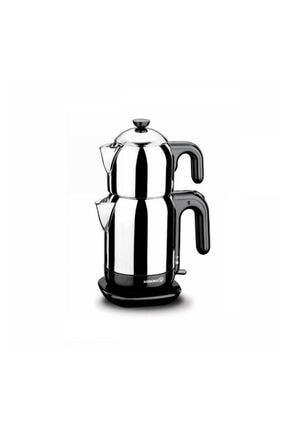 KORKMAZ Demtez Inox/siyah Elektrikli Çaydanlık