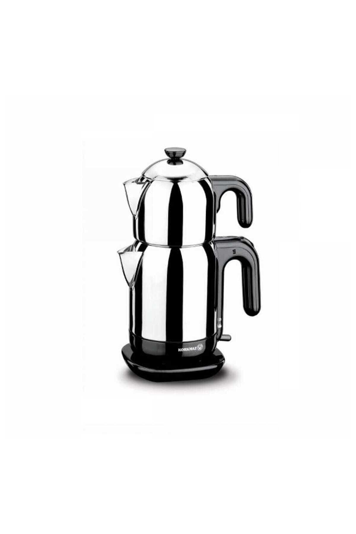 KORKMAZ Demtez Inox/siyah Elektrikli Çaydanlık 1