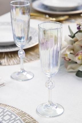 English Home Rio Cam 2'li Şampanya Kadeh 150 Ml Renkli