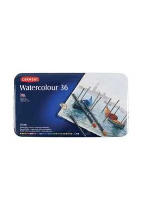 Derwent Watercolour Pencil Teneke Kutu Suluboya Kalem Seti 36`lı