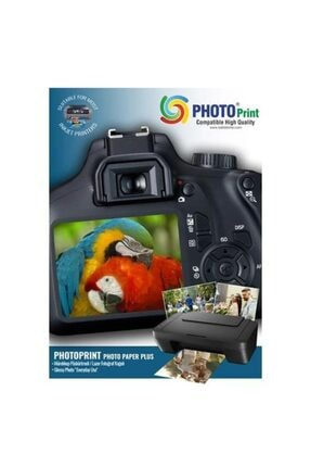 PHOTO PRİNT Canon Color I-sensys Lbp611cn Için 100 Adet A4 Parlak Kuşe Kağıt 130 Gram ( Laser Yazıcı