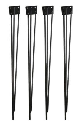 Evnalia Metal Firkete Ayak 42 Cm 4'lü Set Kaşıklık Orta Sehpa Zigon Kütük Ayak
