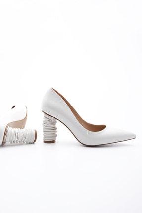 Marjin Kadın Stiletto Topuklu Ayakkabı Duplebeyaz