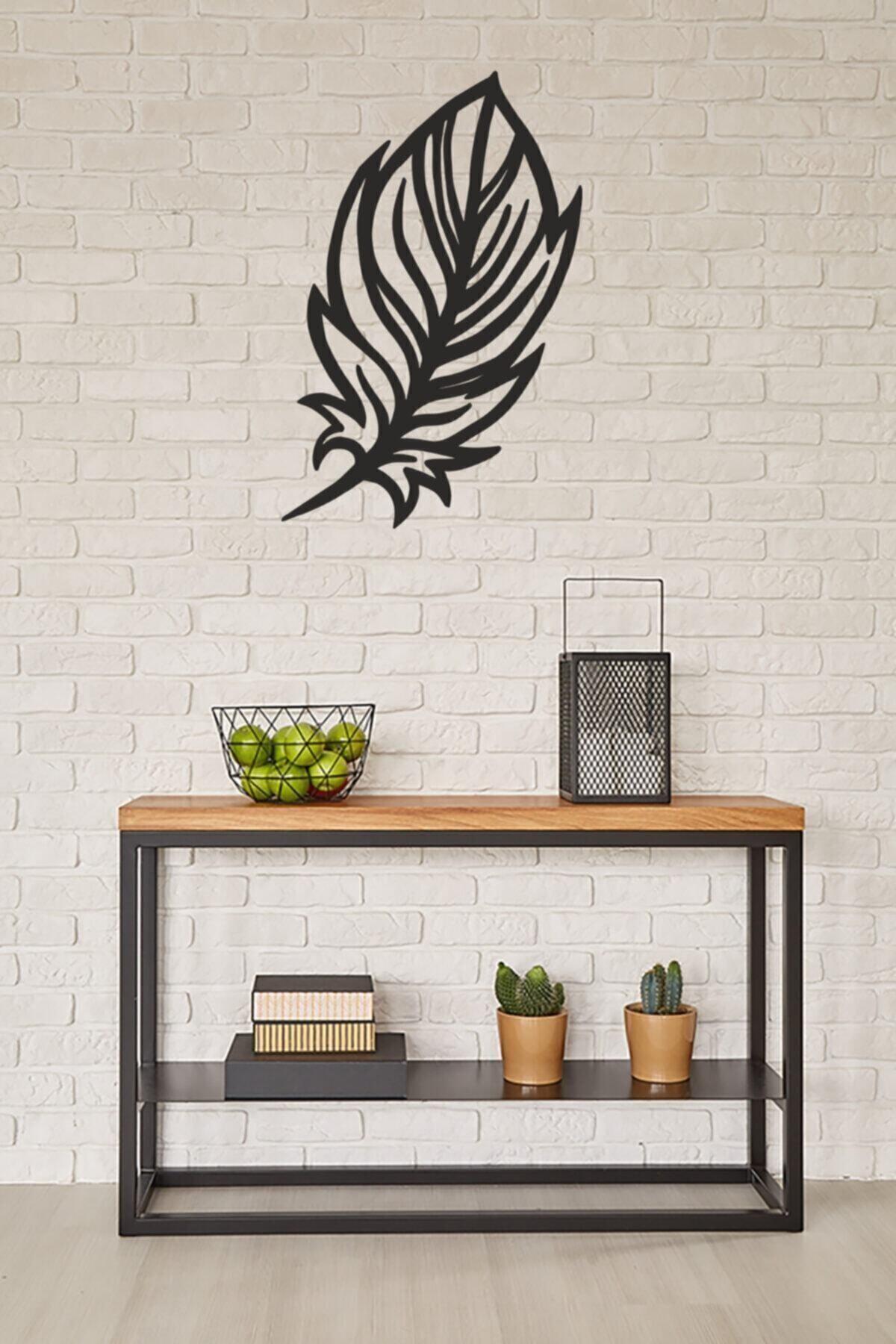 LUPOKRAFT Dekoratif Duvar Saati + Yapraklı Tablo 2