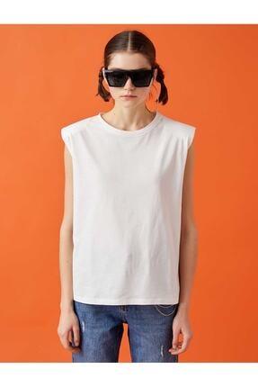 Koton Kadın Kirik Beyaz T-Shirt 21YY59000112