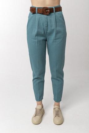 Coral Kadın Turkuaz Pilin Pantolon