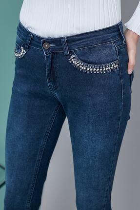 Journey Kadın Mavi Taş Detaylı Pantolon