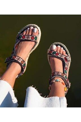 Bloom Kadın Mor Wicker Sandalet