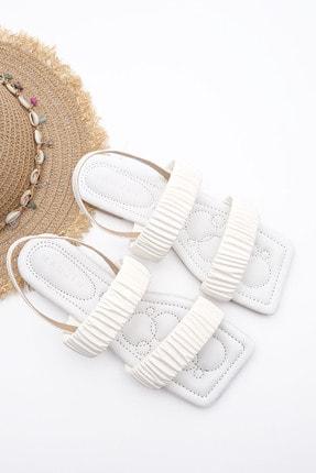Marjin Kadın Beyaz Sandalet