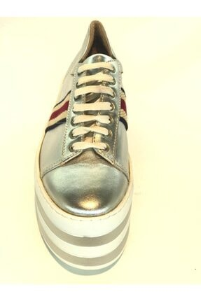 İnci Kadın Gri Hakiki Deri Spor Ayakkabı